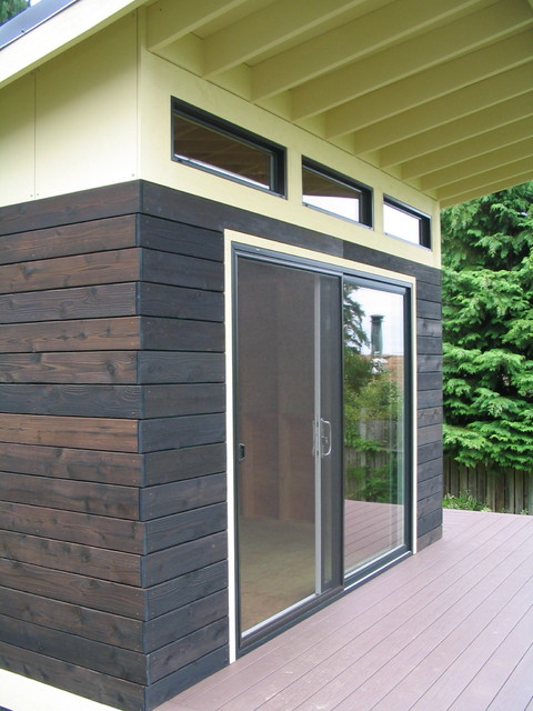 A modern shed modern garden shed and building for Modern shed siding