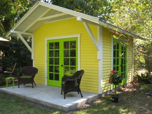 Sunny yellow artist studio