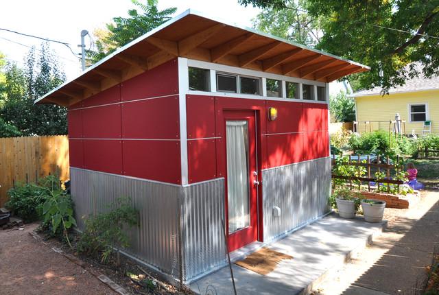 Bon A Writeru0027s Backyard Retreat (10x14) Lifestyle Studio Shed Modern Shed