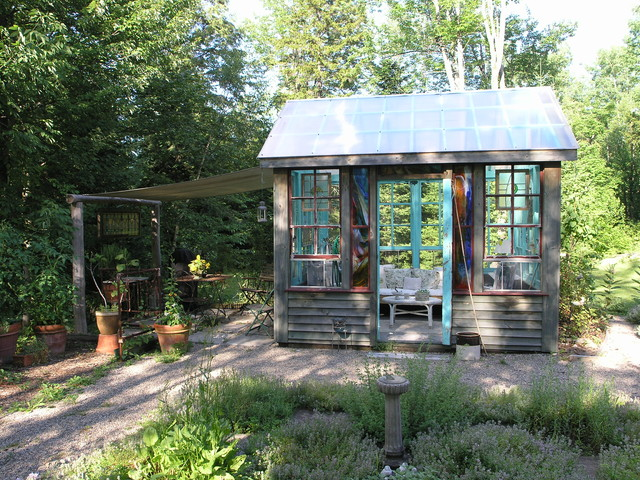 Adirondack Style Inside U0026 Out Rustic Garden Shed And Building