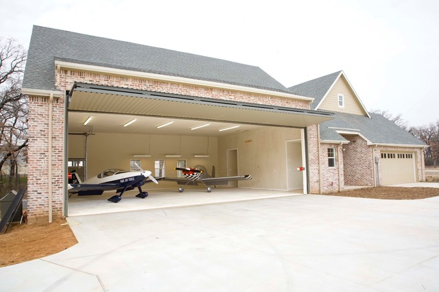 Airplane House Craftsman Garage And Shed Dallas By