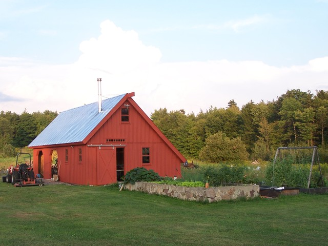 Amish barn traditional garage and shed other metro for Pole barn greenhouse