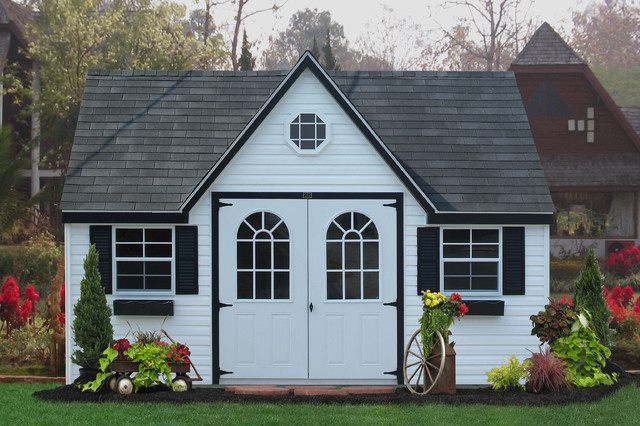 Amish Vinyl Sheds in PA, NJ, NY, CT, DE, MD, VA, WV traditional-garage-and-shed