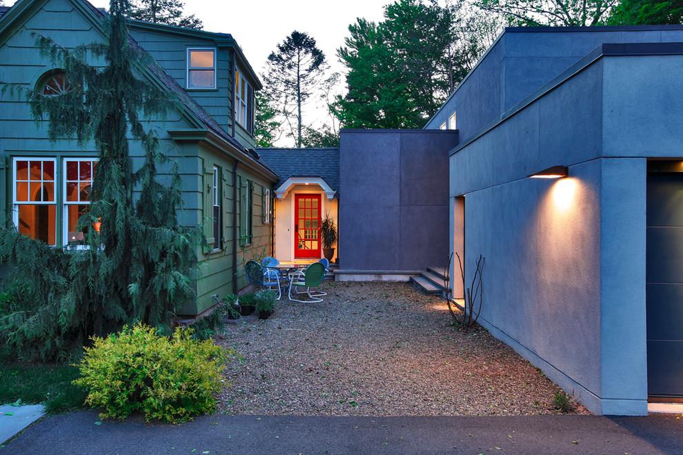 Inspiration for a modern shed remodel in Bridgeport