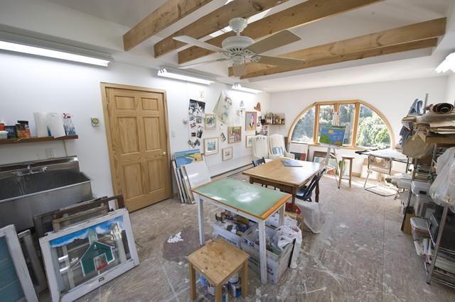Houzz Garage Turned Into Art Studio