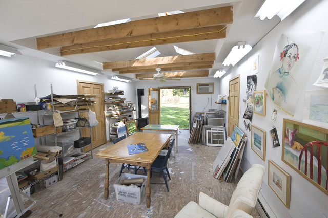 traditional shed by pine street carpenters the kitchen studio best lighting for art studio