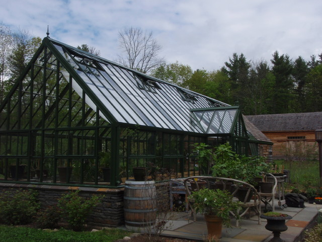 attached English greenhouses / glasshouses - Victorian greenhouses / glasshouses traditional-garage-and-shed