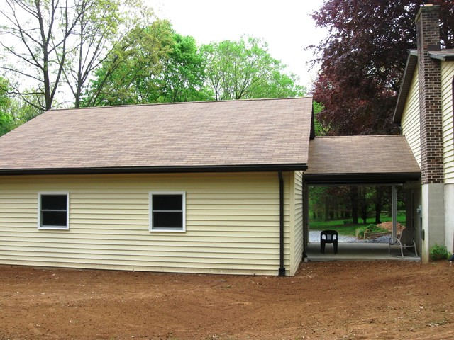 Attached garages traditional shed philadelphia by for Shed with carport attached