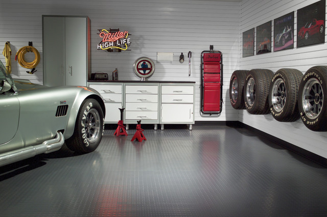 Automotive enthusiast garage - Modern - Garage And Shed - milwaukee - by storeWALL