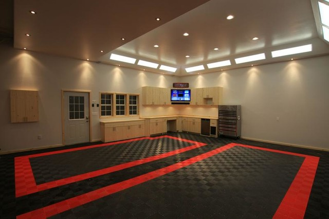 Awesome home garage remodel with racedeck garage flooring for Awesome garage designs