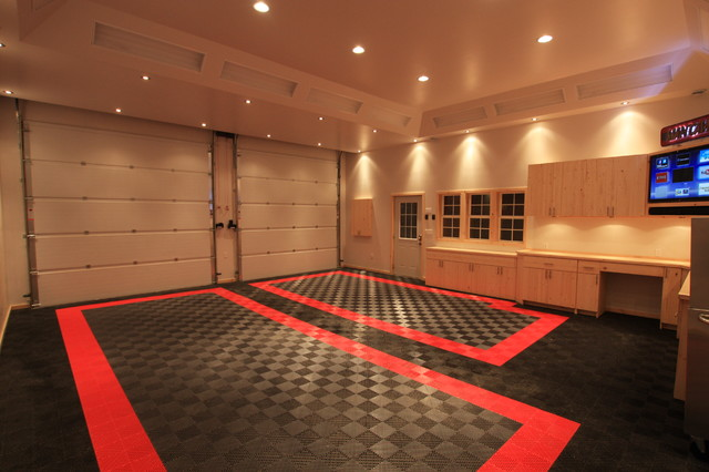 Garage Renovation Man Cave : Awesome home garage remodel with racedeck flooring