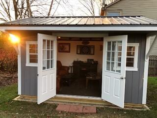 backyard cigar lounge  rustic  shed  columbus
