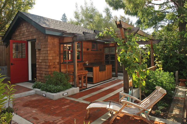 Backyard Cottages Rustic Shed San Francisco By
