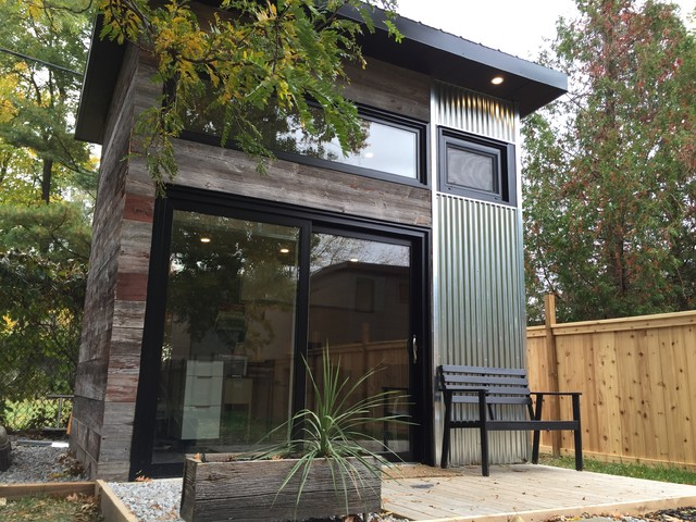 Backyard Modern Studio Shed Toronto By Level Design Build