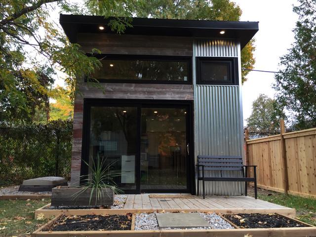 Building A Studio In The Backyard backyard modern studio - modern - garden shed and building - toronto