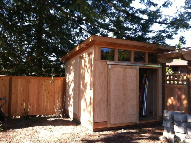 Backyard shed Modern Garden Shed and Building Seattle by