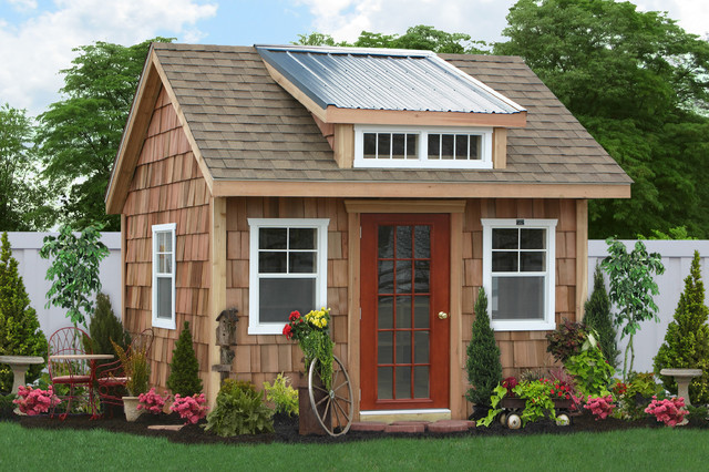 Build Garage In Backyard : Backyard Shed Spaces, Studios and Offices  Traditional  Garage And