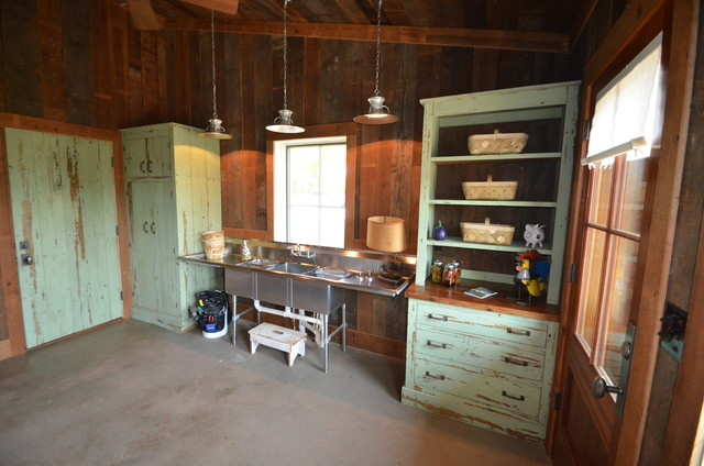 Barn authentic cabinets traditional-garage-and-shed
