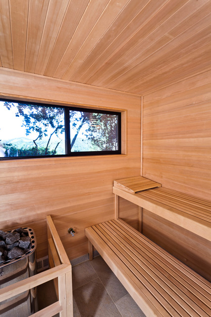 Sauna modern design  Bay Area, CA Modern Sauna - Modern - Garden Shed and Building ...