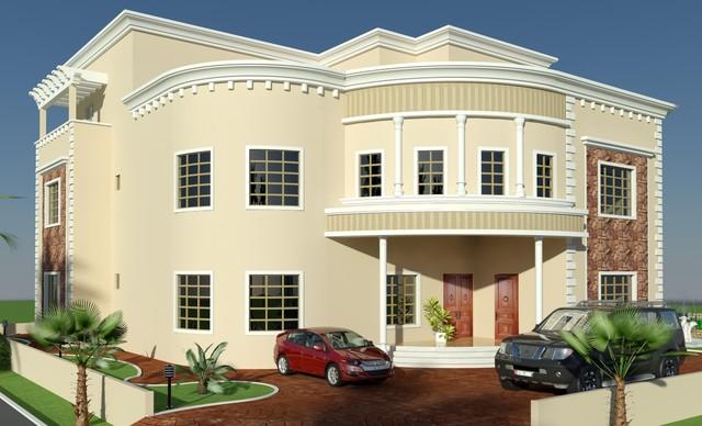 Villa Front Elevation Photos : Beautiful villa d front elevation arabian style in oman