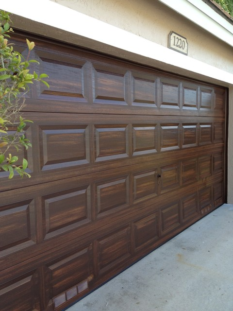 Beautiful Wood Grain Doors Traditional Garage And Shed