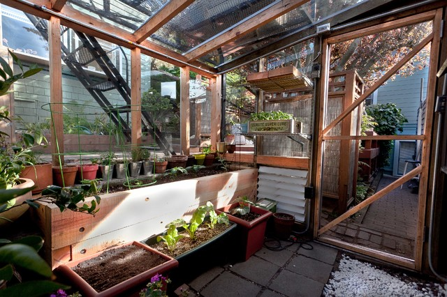 Bernal Heights Greenhouse Addition contemporary-shed