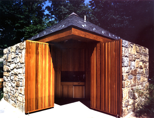 Bethesda Pool House traditional-garage-and-shed