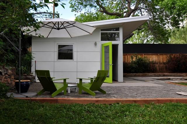 Bike Workshop With Garage Door Contemporary Garden Shed And