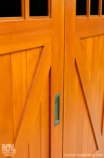 Biparting Sliding Doors - Traditional - Shed - seattle - by Real Carriage Door Company