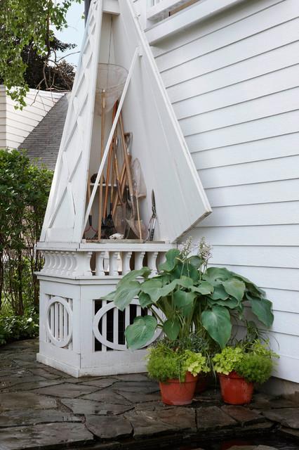 Birmingham, MI Private garden traditional-shed