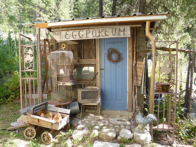 blue fox farm shabby chic style garden shed and building