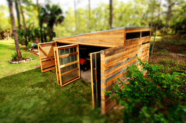 BOAT House Modern Shed Miami by LIGHTSHED Architecture
