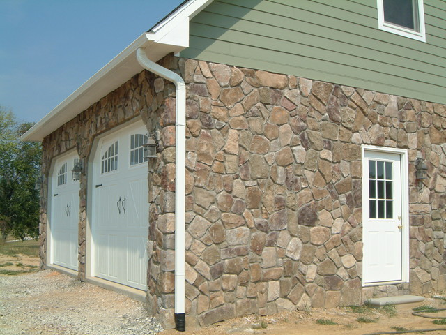 Boral Cultured Stone - Dressed Fieldstone traditional-garage-and-shed
