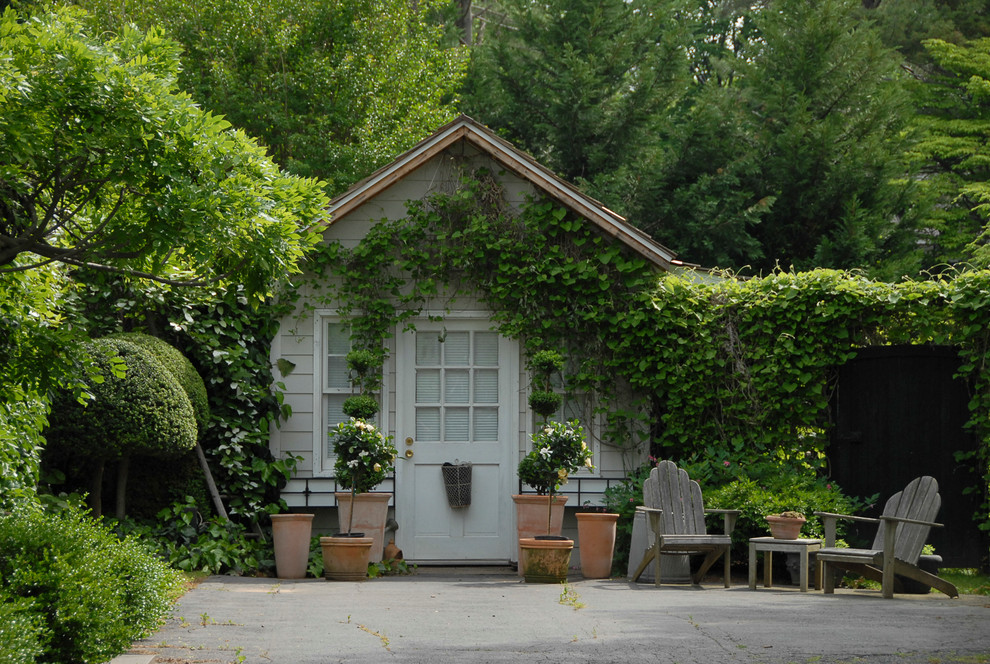 Example of a classic detached garden shed design in New York