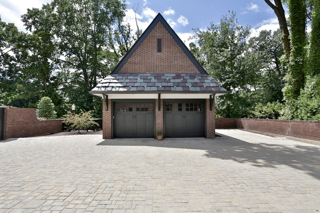 Brick Garage With Slate Roof Traditional Garage And Shed