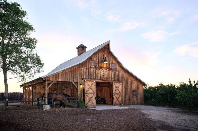 California Horse Barn - Country - Shed - Other - by Sand Creek Post & Beam  | Houzz NZ