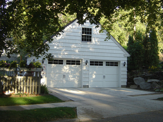 Cape cod makeover traditional garage and shed other for Cape cod garage