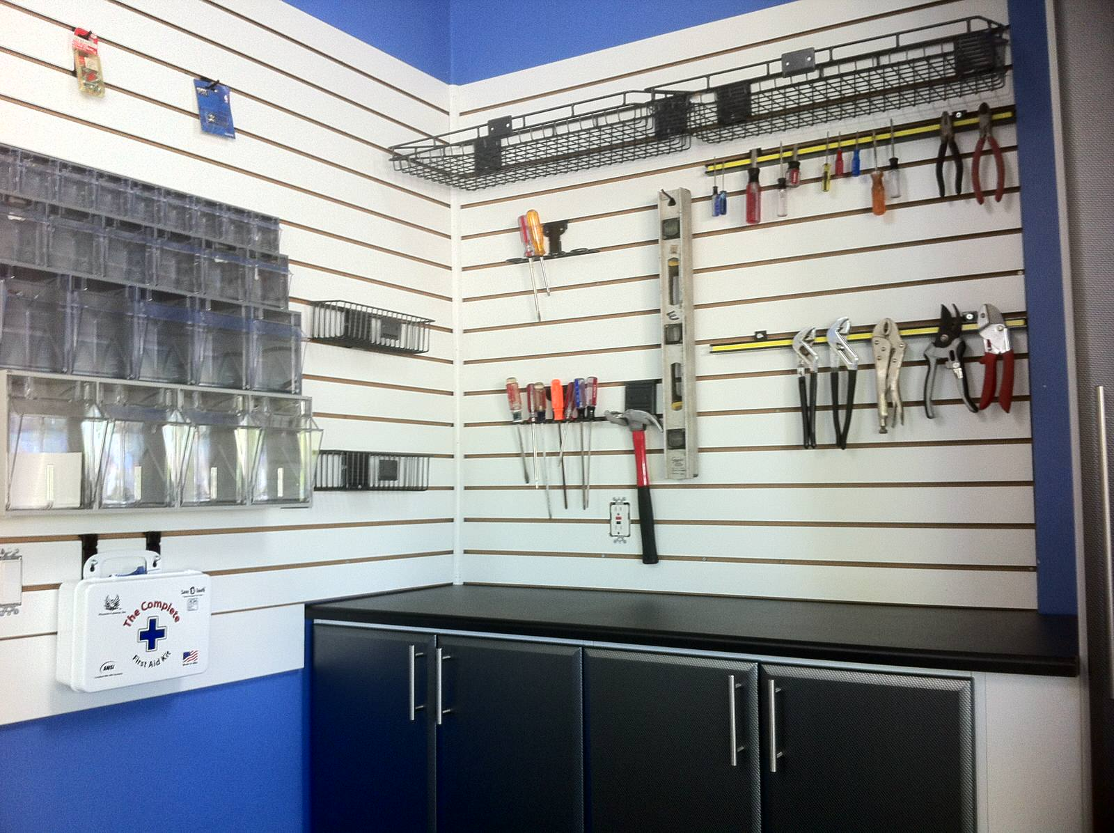 Garage Storage and with Hooks and Slatwall