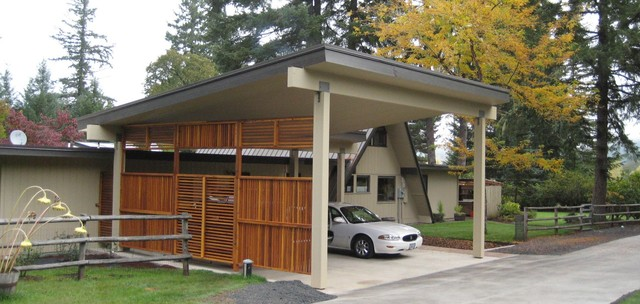 Carport And Front Entry For A Frame Home