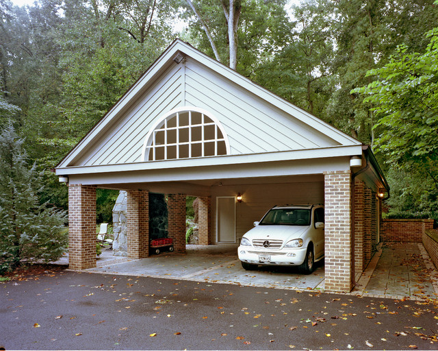 Carport and storage building traditional garage and for Two storage house designs