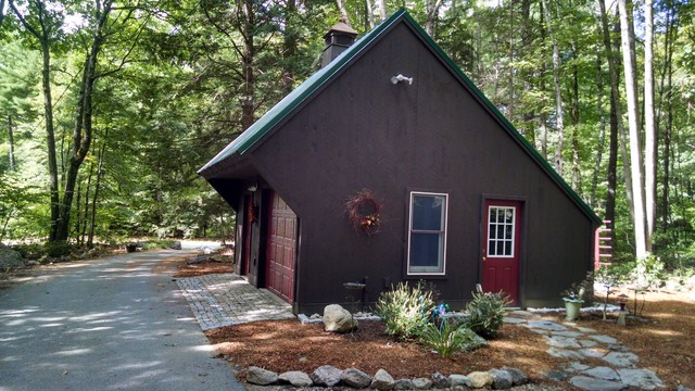 Carriage House Goffstown Nh Rustic Garage And Shed