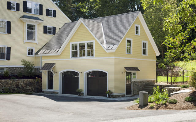 Carriage house traditional shed boston by jacob for Carriage house shed