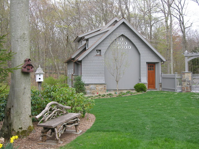 Carriage house for Traditional garden buildings