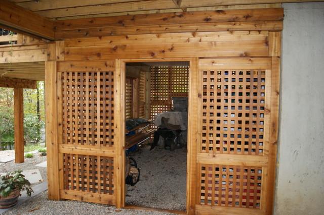 Cedar dream national winner contemporary garage and for Garage under deck