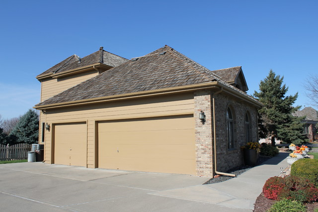 Cedar Shake Roof & Gutters traditional-garage-and-shed