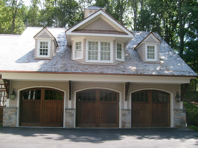 Chappaqua colonial traditional shed new york by for Garage with dormers