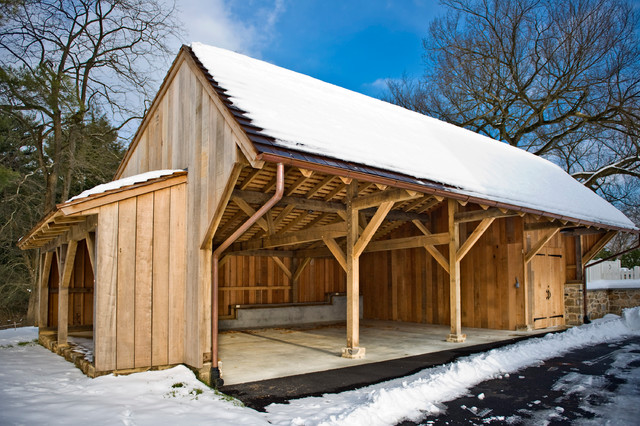 Chester county carriage shed traditional garage and Carriage barn plans