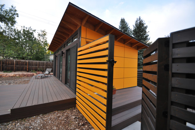 Client Studio Shed with Bathroom 14x26 Modern Garden Shed and