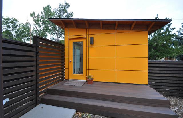 Client Studio Shed with Bathroom 14x26 - Modern - Garden ...