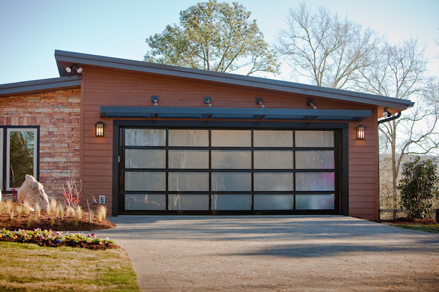Clopay AVANTE Full View Garage Doors Modern Shed Vancouver